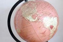 Globes / Globe Art Ideas