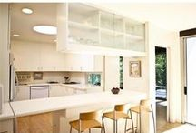 The Neutra Kitchen / Pictures of kitchens from Neutra Houses and a few additional inspiration pics for discussion.