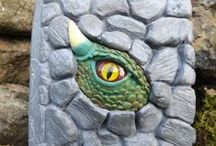 Dragon Journal / Perfect gift for kids and adults.  Through the rocks you might find, a dragon lurking just behind…  Buy online at http://www.magicalworldjournals.co.uk/shop/dragons-the-journal/  #gift #present #children #journaling