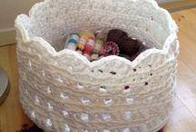 baskets crochet