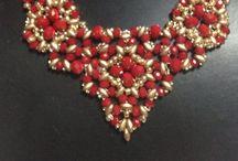 collane swarovski / collier e collane  di mia creazione  Realizzate con diverse tecniche