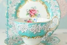 Tea Cups, Saucers, and Pots / Just because we like to collect pretty tea cups.