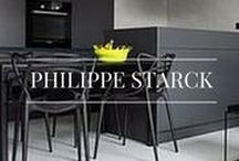 Philippe Starck / Philippe Starck is a French designer who started out his career in the 1980's, building up his reputable name within the interior design industry. His plastic furniture creations have made his designs accessible to a wider audience, with over a million of the ghost chairs having been sold!