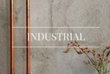 Industrial Decor / For industrial cool, mix exposed brick with metal furniture and edgy details.