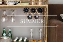 Summer Decor / Update your home with bright, structured furniture for a laid back take on Summer interior design.