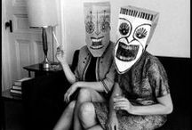 STEINBERG'S MASKS / Masks made with paper bags and cardboard by SAUL STEINBERG, one of the greatest illustrator and charger and drawer of all time.