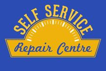 Self Service Repair Centre / Self Service Repair Centre offers a large, clean, safe and well lit location for working on cars and vans. You can rent either a bay or a car ramp by the hour to do your car repairs.