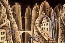 """✔ Xul Solar / Oscar Agustín Alejandro Schulz Solari (más conocido como """"Xul Solar"""") fue pintor, escultor y escritor nacido en Argentina. Un personaje excéntrico y curioso, poseedor de una gran cultura, que exhibía con sencillez y gracia poco común. 「1887―1963」"""