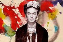 ₪ Frida Kahlo / Magdalena del Carmen Frida Kahlo Calderón, más conocida como Frida Kahlo 「1907―1954 」 fue una pintora y poetisa mexicana de ascendencia alemana y española.