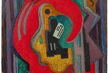 """□ Albert Léon Gleizes / Artista plástico francés, teórico, filósofo, uno de los fundadores del Cubismo y una gran influencia en la Escuela de París. Albert Gleizes y Jean Metzinger escribieron (en 1912) el primer tratado importante sobre el cubismo, Du """"Cubisme"""". 「1881 ― 1953」"""