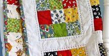 9 PATCH / Quilts with nine pieces of material