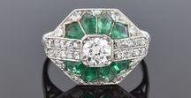 Green Jewelry / Emeralds and enamel.