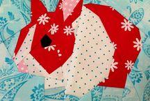Super-cute quilt blocks / Cute pictorial quilt blocks, often foundation paper pieced