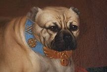 Dogs in Bohemian history and art / Bohemian antiques dog paintings and photos. Famous czech dog owners and dog lovers. Dog portraits, prints, statues. České umění, obrazy a fotografie psů a jejich pánů, sochy, malby, tisky