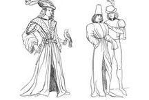 Francuskie i flamandzkie ubiory meskie od 1430 do konca XV w / Ubiory meskie od 1430 do konca XV w