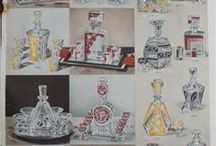 Glass and porcelain catalogues, marks and hallmarks / Antique trade catalogues, vintage advertising, European and Bohemian glass and porcelain marks Staré katalogy skla, porcelánu, reklamy, značky