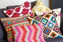 Crewel Work Cushion Covers / Hand crafted crewel work cushion covers from Kashmir For details https://www.facebook.com/BohemianWeaves