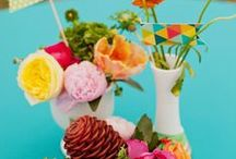 Vivid & Hot Hues / Floral & Decor Inspiration for L & C