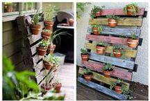JARDIN VERTICAL / Ideas para jardín vertical hecho con palets.