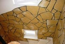 Indoor stone wall with Delap flexible stone