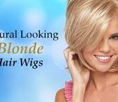 Natural Looking Blonde Hair Wigs / The Meg Lace Front Wig by Estetica is a short graduated layered bob with loose spiral curls. 100% hand-tied front lace line made with extra thin lace film for a natural and customized fit. It provides an open cap for comfort and better air circulation.