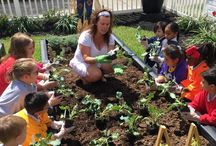 Gardening / We grow, learn, and play in the garden at The Apple Tree School!