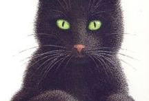 Cat =^_^= Art / Illustrations . water color .oil paintings  / by ℃ ҉ `*•¸ ҉ ¸•*´  ҉ ɬ