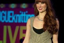 VOGUE KNITTING FASHION SHOW - NEW YORK / Models wearing Wild Jewels on the Vogue Knitting cat walk 2013