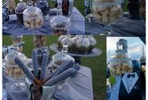 Candy & Sweets Tables / A sweet buffet that can liven up any wedding or party. candy tables, smores bars, waffle bars, sweets bars. #weddings #party #sweets