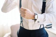 Grooms and Groomsmen Attire / Let us help you get ideas on how to keep the men sharp on your wedding day! grooms attire, groomsmen attire, boutonnieres, tuxedos, suits, ties, bowties, shoes. #grooms #groomsmen #weddings