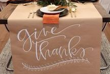 Thanksgiving Decorations / Tis' the season! Let's get festive with Thanksgiving decor! So it's time to be thankful that we have the skills to decorate. #holidays #thanksgiving #home