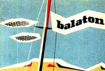 Old posters & labels about Lake Balaton