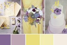Wedding - Colours / Lots of lavander, green, and white. A little bit of yellow.