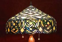 Design and Decor - Tiffany Lamps / Tiffany stained glass lamps and similar styles in stained glass.