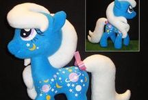 Over the Rainbow - With Custom Plush Style / Plush ponies from all generations made by very talented (and patient) people.