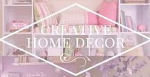 Creative Home Decor / Creative ideas for the home. Various decorative items, design ideas, landscaping, home decor etc to spruce up your home