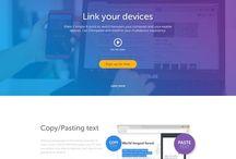 One Page Web Design / web design inspiration