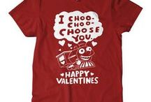 "Tees that say ""I love you"" / Shirts that say I Love You in that special funny t-shirt way.  Perfect Valentines gifts"