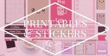 Printables and Stickers / Printables and Stickables Pinterest Board - pins of printable items, planner downloads and printables, stickers for planners, planner stickers, printable worksheets etc