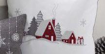 vianočné vankúše+obrusy