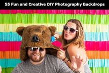 DIY Photography Backdrops / Ideas for creating your own backdrops