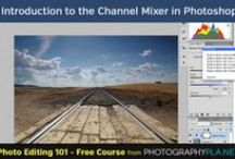 Photo Editing 101 in Photoshop / A series of free tutorials that covers various aspects of editing photos in Photoshop.