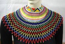 A chacun son col / Collier collerette en perle de verre fait main en Afrique du Sud