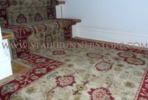 """Landings - Custom Landing Stair Runner Installations / While there are certainly many other types of staircase landings, a single square or rectangular shaped landing is the most common type we find in our customer's homes. We refer to them simply as """"Landings"""" for our installation categories."""