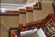 """Stair Runners - Available in Many Styles / Stair runners are available in many different styles. Often they are thought of as the traditional """"oriental"""" style patterns. While there are many in those beautiful patterns - that's not for everyone. Stair runners are made in contemporary, transitional, fabric inspired/tonal patterns, geometric, floral, and animal patterns. There is a stair runner for every decor. www.StairRunnerStore.com"""