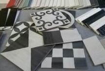 Interior design, encaustic tiles / Encaustic effect porcelain tiles from Grestec Tiles