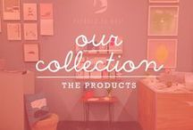 """Our Collection / Here we will post mood shots/cutouts of our collection, that consist of greeting cards, notebooks, notepads, wrapping paper, pouches, prints & much more. We would love to hear what you think of our collection either here or in our """"Fan Board"""". Warm wishes & hugs from pleased to meet."""