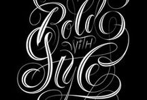 Calligraphy & Lettering / Inspiration from beautiful lettering