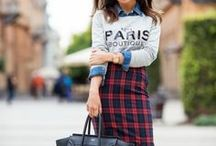 Plaid & Tartan / I love how bold these prints are even though they are so simple. I did have some reservations about how easily they can look boring or too punk, especially on me but I think with a little style inspiration I will find my happy medium.