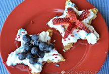 Red, White & Blue Ideas / Festive red, white & blue food, recipes, crafts, diy projects and other ideas to celebrate Memorial Day, 4th of July and Labor Day. / by Kenarry: Ideas for the Home